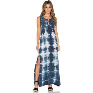 Gypsie 05 Tie Dye Lace Up Maxi Dress NWT